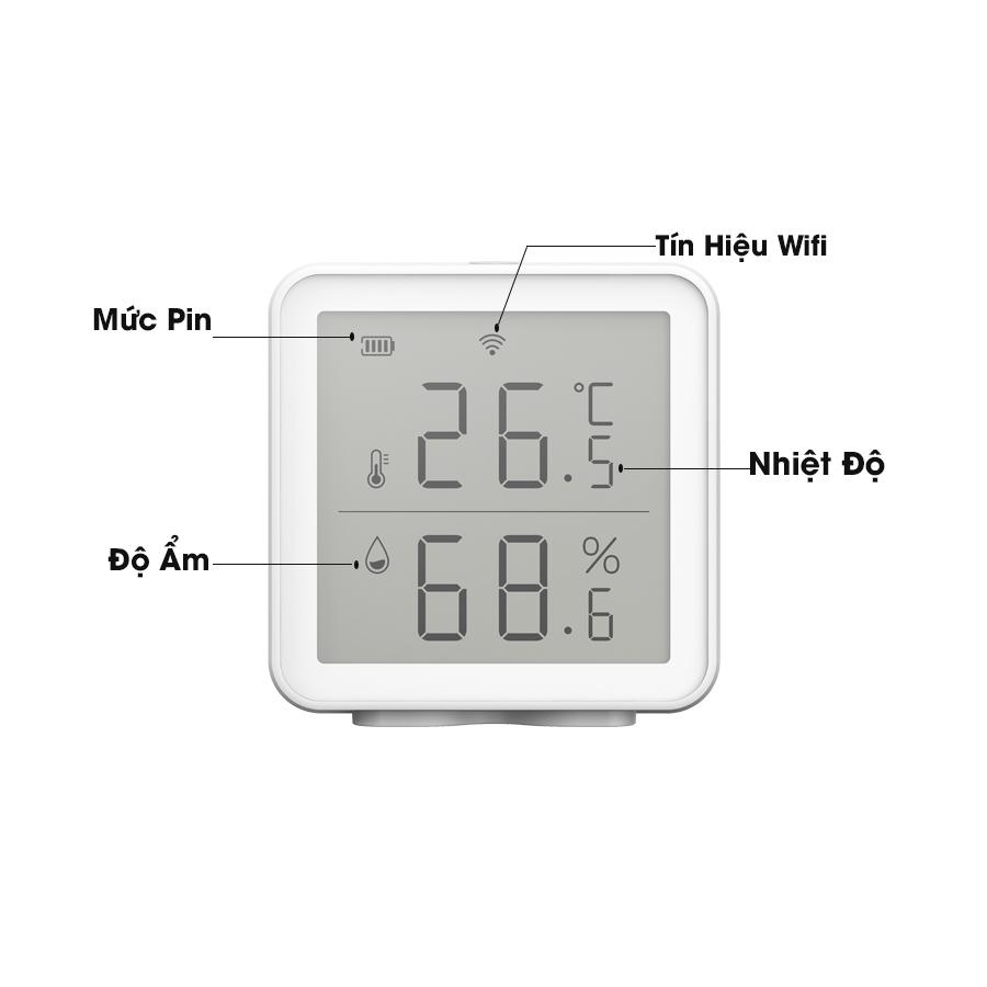 cảm biến nhiệt độ độ ẩm Goman smarthome màn hình chuẩn